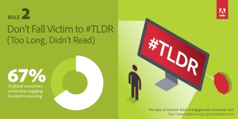 State of Content: Rules of Engagement for 2016. Rule 2 - Don't Fall Victim to #TLDR (Graphic: Business Wire)