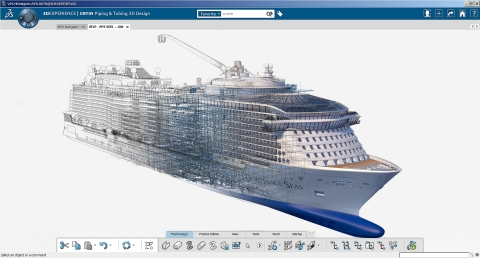 courtesy of Meyer Werft (Graphique: Dassault Systèmes)