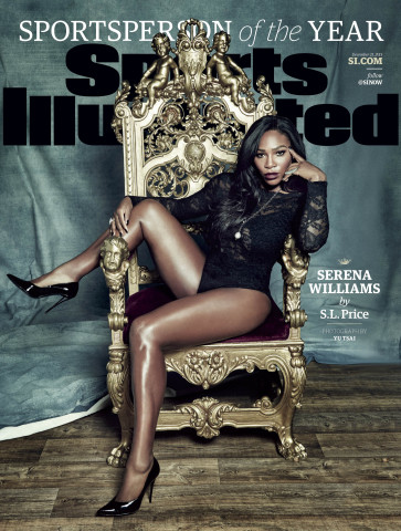 Serena Williams, Sports Illustrated's 2015 Sportsperson of the Year (Photo Credit: Yu Tsai for Sports Illustrated)
