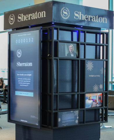 "Launching today from Sheraton Hotels & Resorts, ""Delight my Delay"" seeks to alleviate the stress of the holiday season by allowing consumers to turn their delays into chances to win prizes and gifts. (Photo: Business Wire)"
