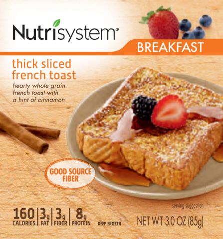 Nutrisystem thick sliced french toast. Nutrisystem debuts all-new packaging featuring easy-to-read n ...