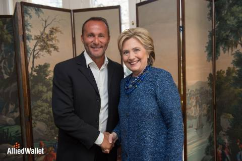 Andy Khawaja Meets with Hillary Clinton. (Photo: Business Wire)