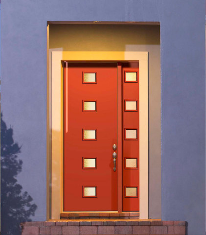 Ravishing Red is shown here on a Pulse Echo door. (Photo: Business Wire)