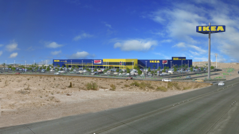 Architectural Rendering of Future IKEA Las Vegas (opening Summer 2016)(Graphic: Business Wire)