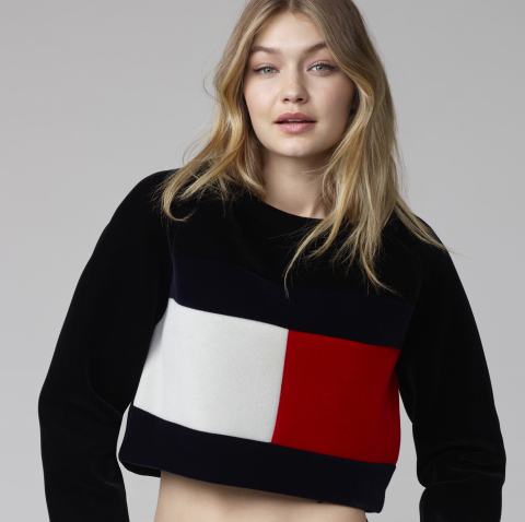 Gigi Hadid in Tommy Hilfiger (Photo: Business Wire)
