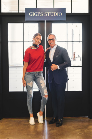 Gigi Hadid and Tommy Hilfiger (Photo: Business Wire)