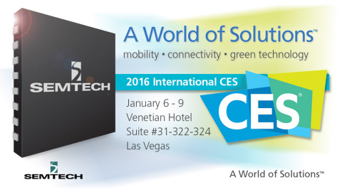 Semtech to Demonstrate Breakthrough Technology Platforms for the Internet of Things (IoT), Wireless Charging, and Intelligent Power Switching at CES 2016.(Graphic: Business Wire)