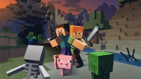 Experience all the adventures you've come to expect from creating your own worlds in Minecraft, now on Wii U. (Photo: Business Wire)