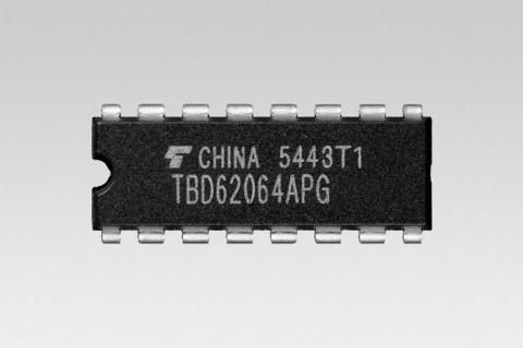 東芝:業界初、DMOS FET型1.5Aシンク出力のトランジスタ・アレイ「TBD62064APG」(写真:ビジネスワイヤ)