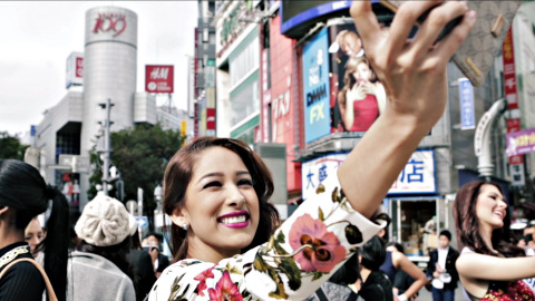 """ADK's video portrays scenes of various """"Miss International Beauty Pageant"""" candidates from about 70 countries window shopping in Shibuya, Tokyo (Photo: Business Wire)"""