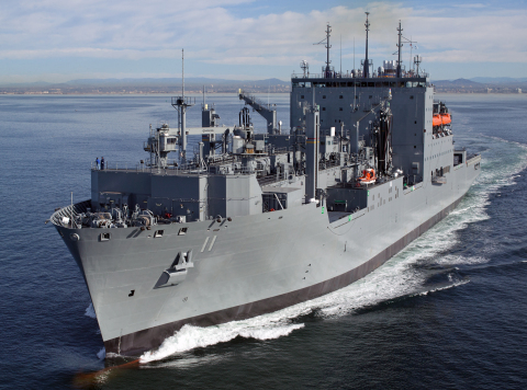 BAE Systems will perform overhaul and maintenance services for the USNS Washington Chambers (T-AKE 11), a Lewis and Clark-class dry cargo ammunition ship. (Photo: U.S. Navy)