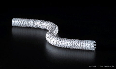 The GORE VIABAHN Endoprosthesis is the lowest profile, most flexible, self-expanding stent-graft available. It is the only stent-graft to receive approval for the SFA (de novo, restenotic, and in-stent restenotic disease), iliac artery, and arteriovenous access revision. (Photo: Business Wire)