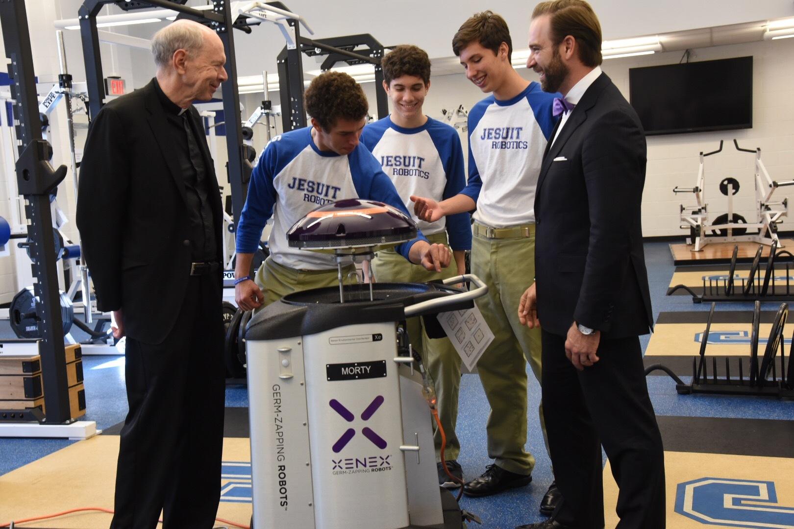 Jesuit High School Alumnus Donates Xenex Germ Zapping Robot To His