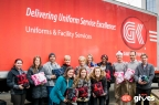 G&K Services employees delivered bundles of cold weather gear to People Serving People (Photo: G&K Services)