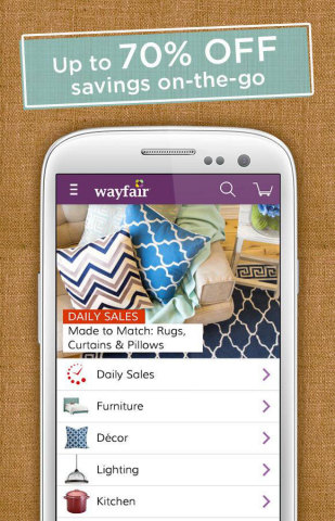 Wayfair.com Mobile App Surpasses 2 Million Downloads