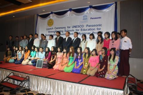 Launch Ceremony for UNESCO & Panasonic Educational Support Program in Yangon, Myanmar (Photo: Business Wire)