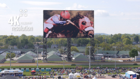 The World's Largest 4K Video Board at Churchill Downs (Photo: Business Wire)