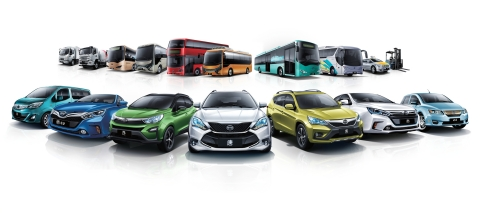 BYD's 2016 Green Hybrid and All-Electric Vehicle Line-up (Photo: Business Wire)