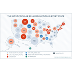 GOBankingRates survey finds the most popular 2016 New Year's Resolution in every state. (Graphic: Business Wire)