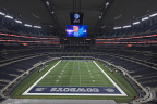 """AT&T Stadium features Hellas Construction's Matrix® Turf and SoftTop™ convertible """"roll-up"""" turf system. (Photo: Business Wire)"""