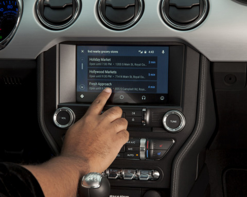 In North America, Ford is making Apple CarPlay and Android Auto, pictured, available on all 2017 vehicles equipped with SYNC 3, starting with the all-new Ford Escape. Owners of 2016 vehicles equipped with SYNC 3 will have an opportunity to upgrade later in the year. (Photo: Business Wire)