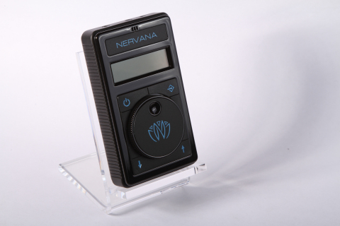 NERVANA, Breakthrough Electronic Device Syncs with Music and Sends Pleasure Signals to the Brain (Photo: Business Wire)