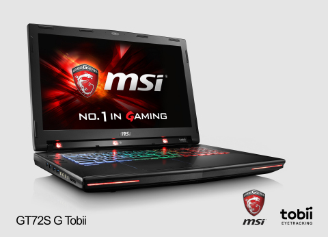 MSI GT72 Dominator Pro Tobii - the world's first consumer notebook with integrated eye tracking. (Photo: Business Wire)