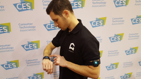 GYMWATCH debuts its Apple Watch-compatible app at CES 2016, turning the Apple Watch into a personal trainer.