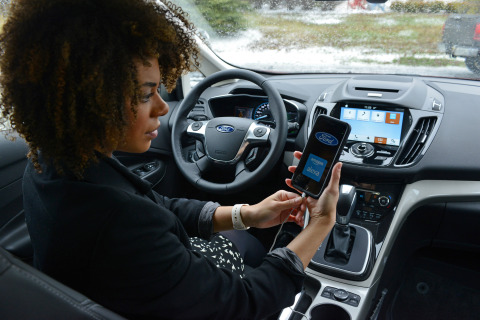 Ford Motor Company is working to link the home automation devices with its vehicles through industry-leading Ford SYNC®. This comes as half of consumers say they will buy at least one smart home product in the next year, according to Icontrol Networks. (Photo: Business Wire)