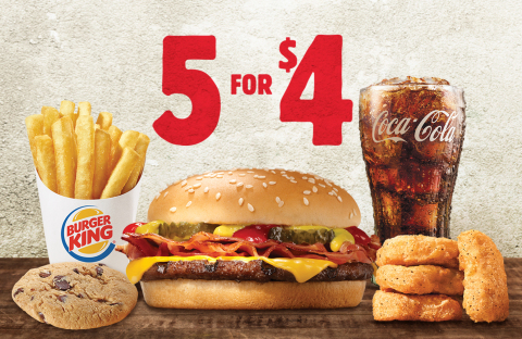 New Year, Better Deal with BURGER KING® Restaurants' New 5 for $4 Promotion (Photo: Business Wire)