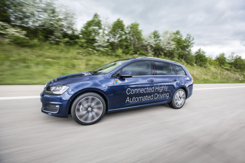 At CES, IAV and Microsoft will be demonstrating a connected highly automated driving (CHAD) vehicle capable of connecting with the Microsoft Azure cloud and Windows 10 to enable communication that helps prevent vehicle and pedestrian accidents. (Photo: Business Wire)