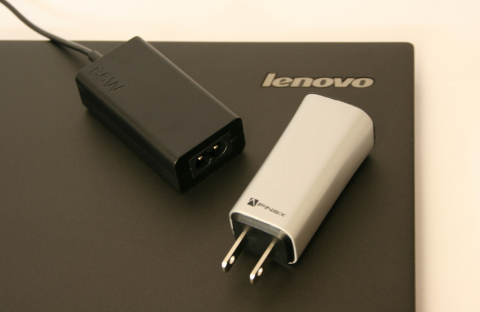 ThinkPad 65W Micro Adapter (left) and Dart (Photo: Business Wire)