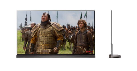 LG G6 Signature OLED TV featuring Netflix Original Series Marco Polo in Dolby Vision (Photo: Busines ...