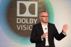 """Roland Vlaicu, Vice President, Consumer Imaging at Dolby Laboratories, explains Dolby Vision technology in TCL's 65"""" X1 4K Ultra HD TV at Consumer Electronics Show (CES) in Las Vegas, January 5, 2016. (Photo: Business Wire)"""
