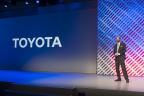 Dr. Gill Pratt, Toyota Executive Technical Advisor and CEO of Toyota Research Institute, speaks at CES 2016 on January 5, 2016. (Photo: Business Wire)