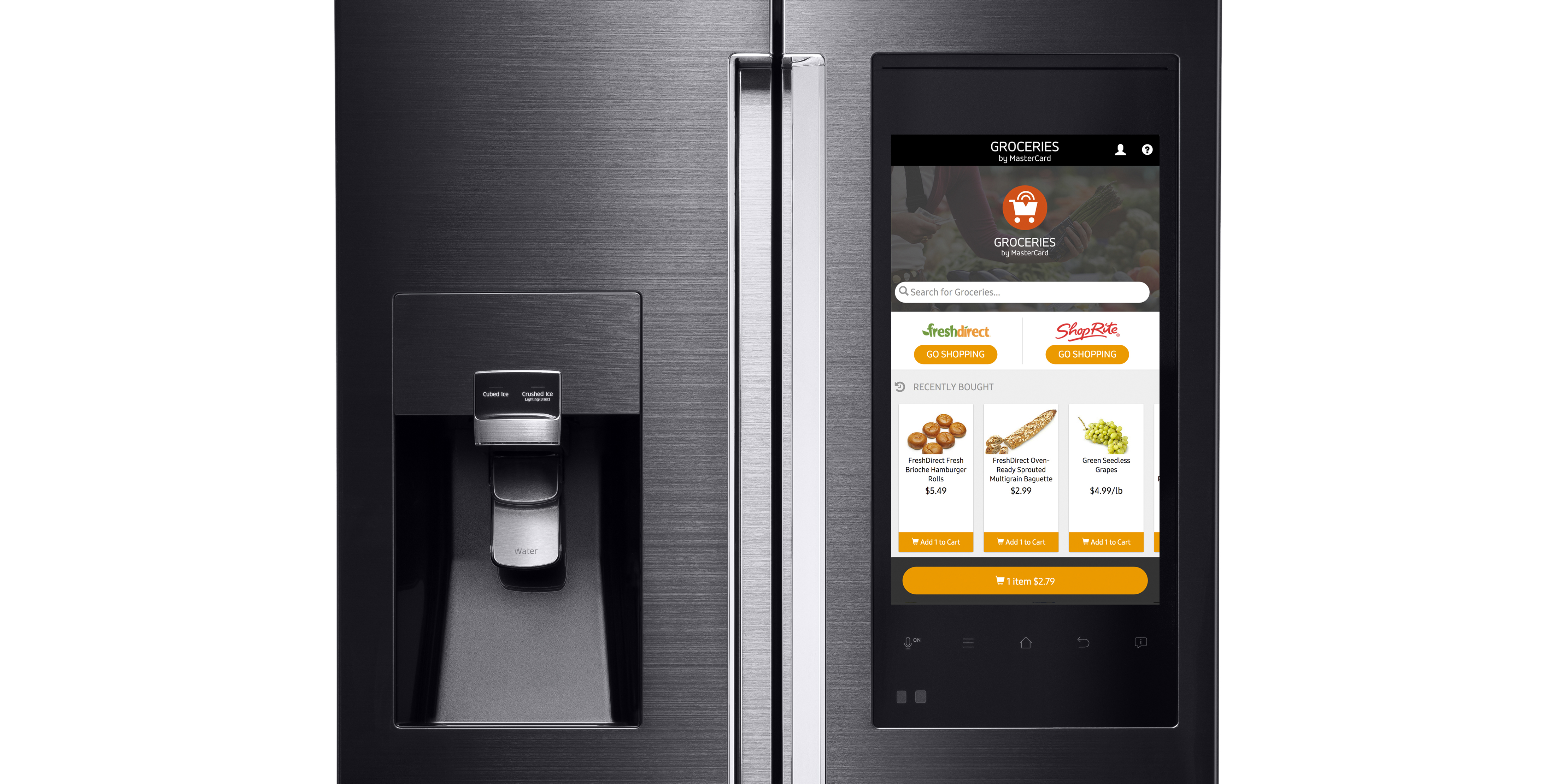 MasterCard introduces Groceries by MasterCard, a new app which enables consumers to order groceries directly from Samsung's new Family Hub refrigerator