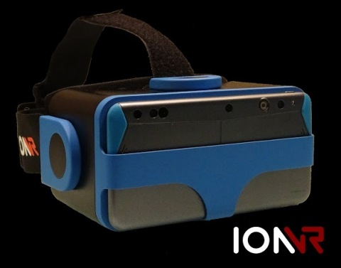 IonVR VR headset with Intel® RealSense™ Smartphone Developer Kit, featuring the new Intel® RealSense™ ZR300 (Photo: Business Wire)