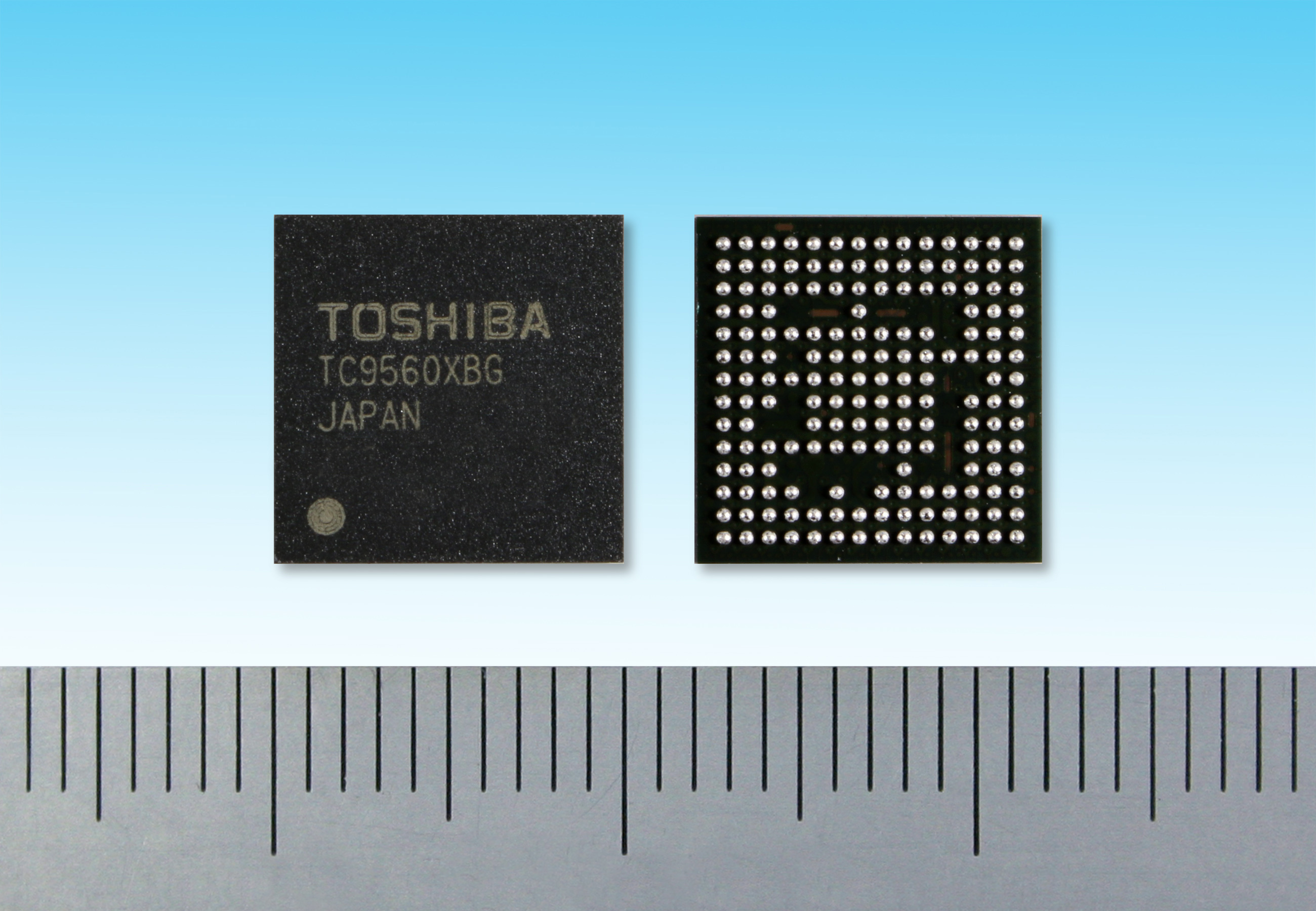 """Toshiba: """"TC9560XBG"""", an automotive-grade Ethernet bridge solution for in-vehicle infotainment (IVI) and other automotive applications. (Photo: Business Wire)"""