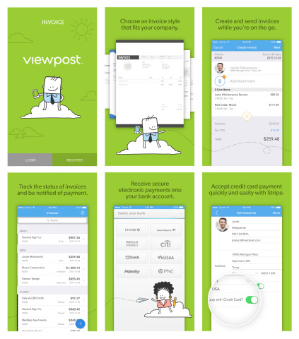 Viewpost Invoice Mobile App Gives Business Owners More Control Of - Send invoice app
