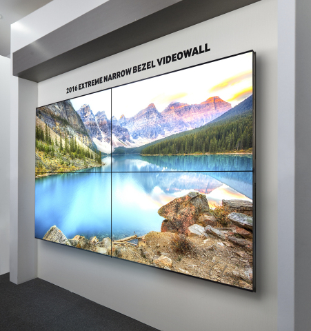 Extreme Narrow Bezel Video Wall (Photo: Business Wire)