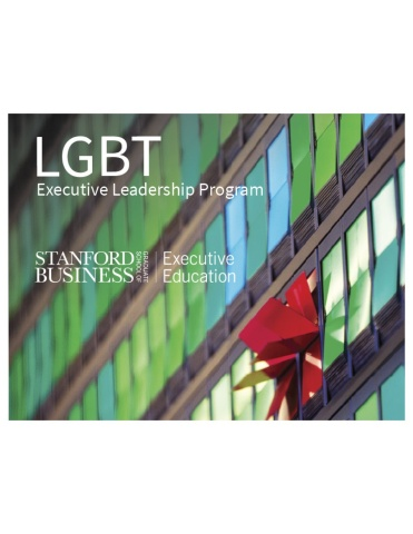 Preview the Stanford LGBT Executive Leadership Program at a Feb. 24, 2016 webinar (Graphic: Business Wire)