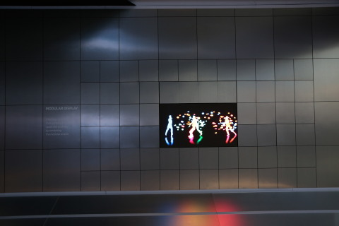 """Samsung's """"Future TV Zone"""" at CES 2016 is focused around Modular display technology, which allows for multiple screens in various shapes and sizes to join together to create an entirely customizable TV based on consumers' lifestyle and the content they want to watch."""
