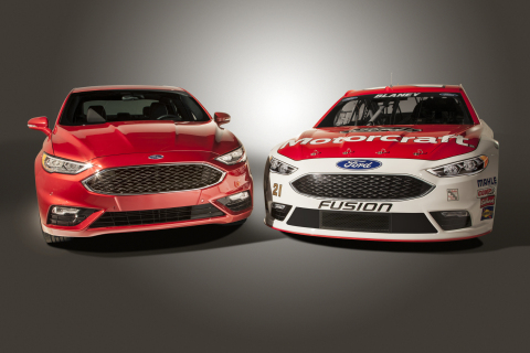 The new NASCAR Fusion, right, which hits the track next month at Daytona Speedweeks, is capable of p ...