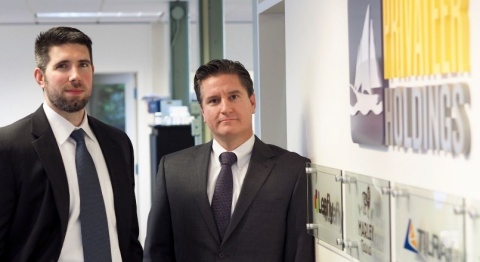 Patrick Moen (left) and Dante Tosetti (right) both joined Privateer Holdings from positions with U.S. federal agencies. Prior to joining Privateer Holdings to shape the future of the rapidly evolving legal cannabis industry, Moen spent 10 years at the DEA and Tosetti spent more than 4 years at the Federal Reserve Bank of San Francisco.(Photo: Business Wire)
