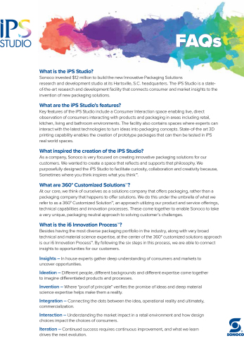 iPS Studio FAQs (Graphic: Business Wire)