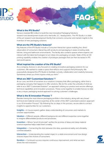 iPS Studio FAQs (Graphic: Business Wire)