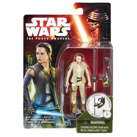 Star Wars: The Force Awakens 3.75-Inch Rey Figure by Hasbro (Photo Credit: Disney Consumer Products)