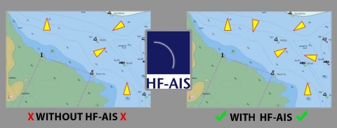 HF-AIS enables an AIS transceiver to reliably and accurately receive and decode every AIS transmission in real time. See and be seen with HF-AIS from SRT. (Photo: Business Wire)