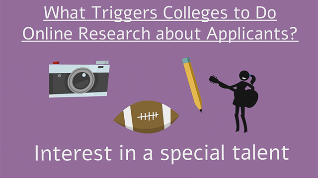 Kaplan Test Prep's 2015 survey of college admissions officers explored what triggers them to visit applicants' social media pages. What they said might surprise you.
