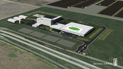 Computer rendering of Monsanto's future commercial cotton seed processing facility in Lubbock, Texas ...